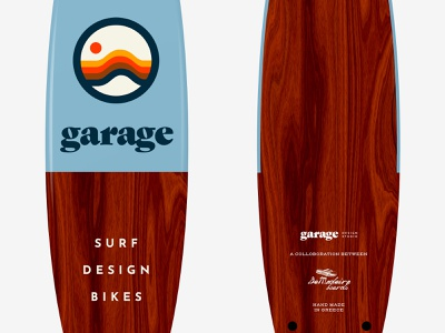Garage Surfboard greece surfboard surf logo branding