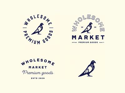 Wholesome Market Branding design beverage coffee label identity packaging logo branding