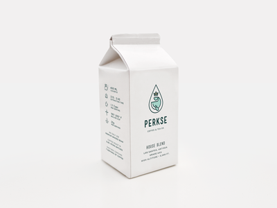Perkse Box bag label coffee beverage tea packaging stamp whale box branding animal logo