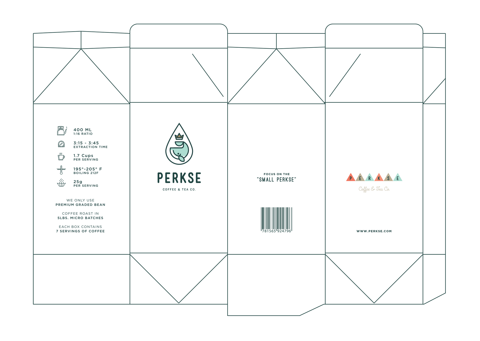 dribbble perkse coffee box template png by salih küçükağa