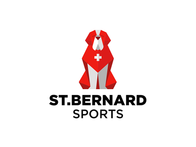 St.Bernard Sports dog animal logo branding sports saint bernard saint bernard st.bernard