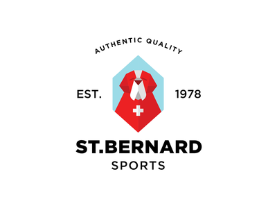 St.Bernard Sports dog branding logo st.bernard animal badge clothing store shop saint bernard saint bernard
