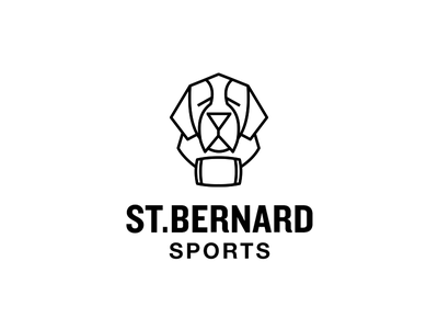 St.Bernard Sports shop store clothing animal st.bernard logo branding dog saint bernard saint bernard