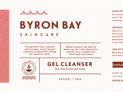 Byron Bay Label australia branding natural organic nsw cosmetic skincare planting label packaging