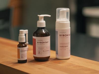 Byron Bay Skincare Labels packaging australia branding logo natural organic line cosmetic skincare planting label