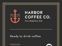 Harbor cold brew ptii label