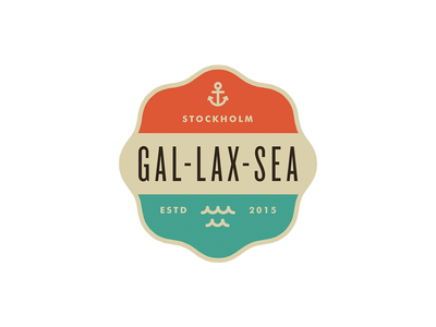 Gal-Lax-Sea pt.III branding logo anchor wave ocean sea badge sweden stockholm planning event gps
