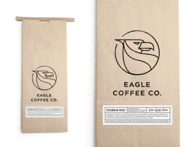 Eagle Coffee Bag baltimore logo packaging coffee branding roasters label iconography identity espresso bag