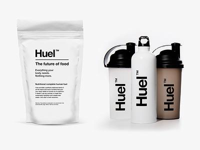 Huel launch simplicity protein vitamin branding packaging beverage food future health powder fuel