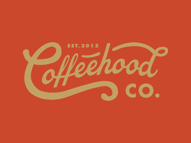 Coffeehood pt.I.II shop beverage branding coffee lettering