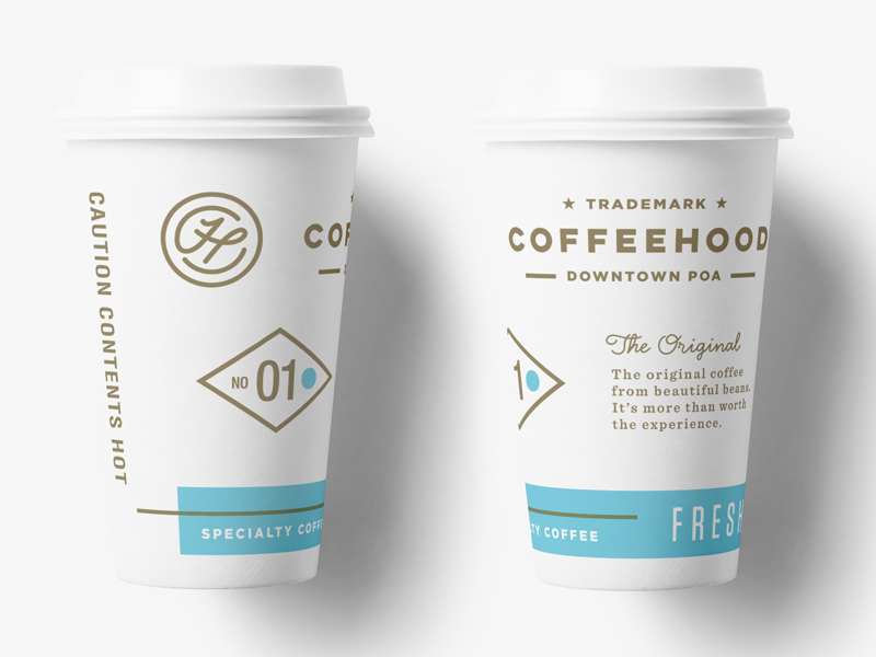 Coffeehood  Paper Cup istanbul drink cafe artisan specialty food packaging logo shop beverage coffee branding