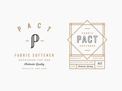 Pact nyc art deco new york branding identity logo men brooklyn