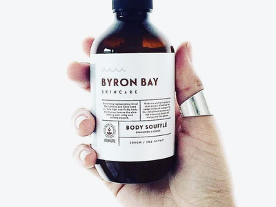 Byron Bay Skincare botanical botanic organic cosmetic packaging bottle label skincare