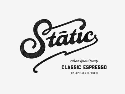 Static Coffee ☕️ logo design news branding coffee