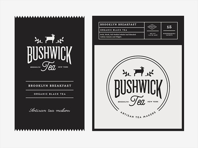 Bushwick Tea Brooklyn Black packaging tea branding logo nyc hot drink beverage goat new york brooklyn