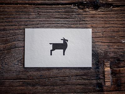 Bushwick Tea Letterpress Card business card letter press badge tea branding logo nyc drink beverage goat new york brooklyn