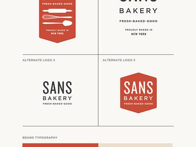 Sans Bakery pt.I nyc logo branding gluten-free vegan artisan bakery shop