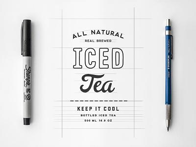 Iced Tea made hand iced beverage drink cold tea shop etsy bottle packaging