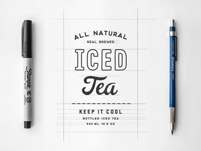 Iced Tea made hand iced beverage drink cold tea shop etsy bottle packaging