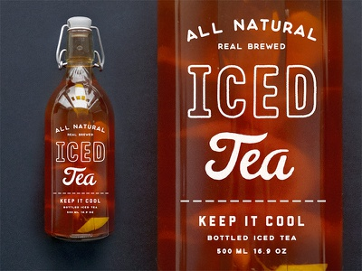 Iced Tea Bottle ice packaging bottle etsy shop tea cold drink beverage iced hand made