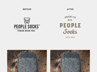 People socks before after
