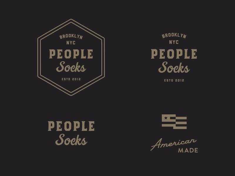 People Socks Re-branding sock socks made american badge brooklyn nyc logo branding apparel