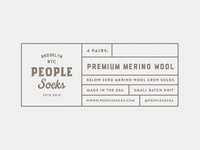 People Socks Labels