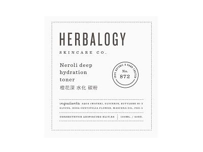 Herbalogy pt.4 packaging cosmetic branding badge skincare label