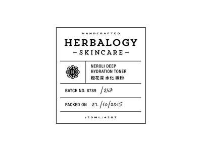 Herbalogy pt.5 label skincare badge branding cosmetic packaging
