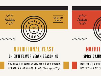 Smile Blends Label skpackaging18 packaging badge label spice nutritional yeast seasoning vegan gluten free