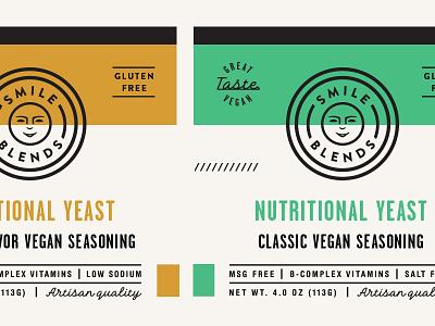 Smile Blends Label pt.1.4 skpackaging18 label packaging badge spice nutritional yeast seasoning vegan gluten free