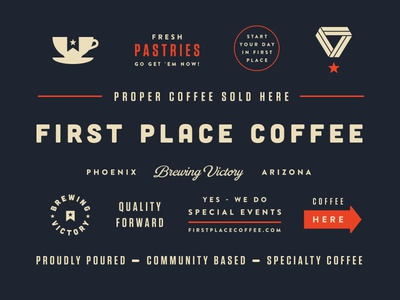 FPC Brand Assets & Truck packaging typography drink label design espresso beverage identity badge logo truck branding food coffee