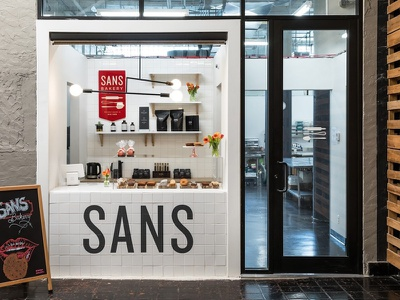 Sans Bakery Store signage packaging nyc goods baked branding store retail