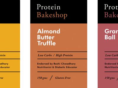 Protein Bakeshop pt.2 skpackaging18 design label packaging branding artisan chocolate vegan fre gluten