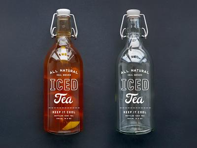 Bottle Giveaway! typography drink label branding design packaging identity coffee beverage logo screen print label design bottle label iced iced-tea tea glass print bottle