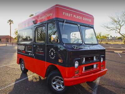 First Place Coffee Truck typography espresso food design identity logo arizona phoenix wrap branding startup coffee truck