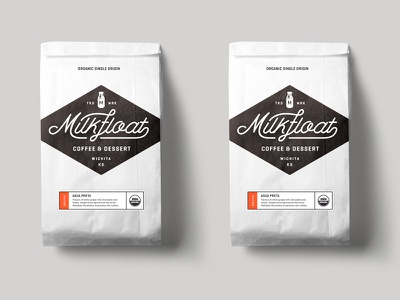 Milkfloat Coffee Bags skpackaging18 organic label retail shop dessert food drink bag branding logo americana coffee