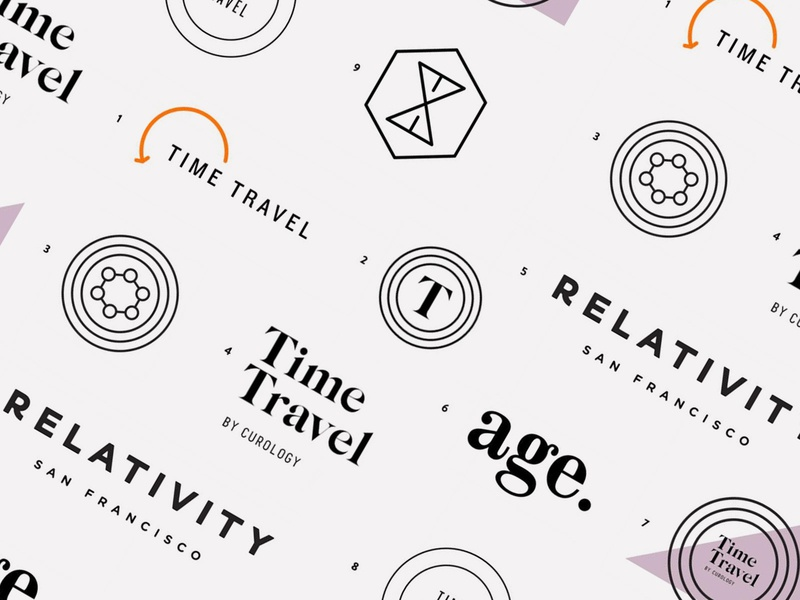 Custimized Anti-aging Line illustration label exploration typography cosmetic anti aging skincare san francisco startup design identity badge logo branding