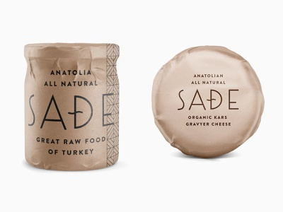 Sade pt.2.3 skpackaging18 cheese wrapper turkey anatolia food raw kraft branding packaging
