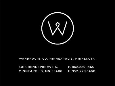 Wkndhours pt.1 skpackaging18 badge identity typogaphy business card monogram w travel logo branding