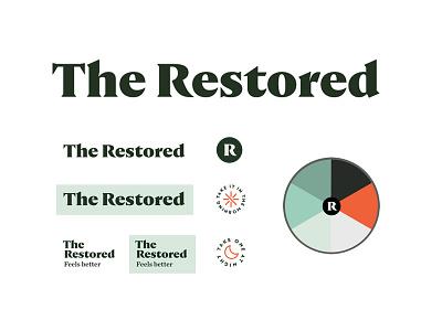 The Restored pt1.1 branding logo packaging identity supplement design start up label wellness sage