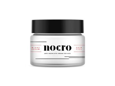 Nocro pt.1.2 illustration label exploration typography cosmetic anti aging skincare startup design identity badge logo branding men man anti-aging