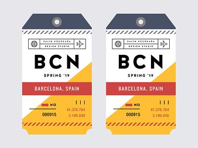 Barcelona '19 identity design typogaphy barcelona offf travel tag traveling