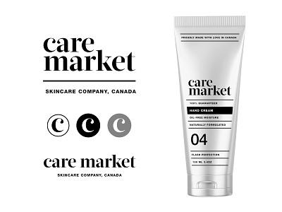 Care Market pt2.1 container bottle serum cream line skincare cosmetic branding logo packaging identity design start up label wellness
