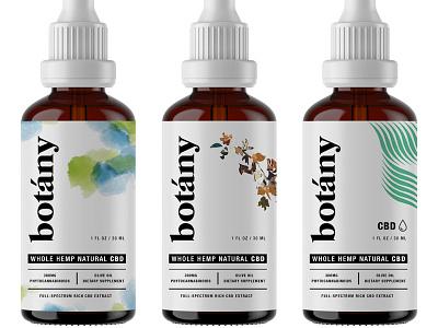 Botany pt.2 cbd hemp cbd oil wellness oil los angeles startup bottle packaging bottle label startup branding startup logo