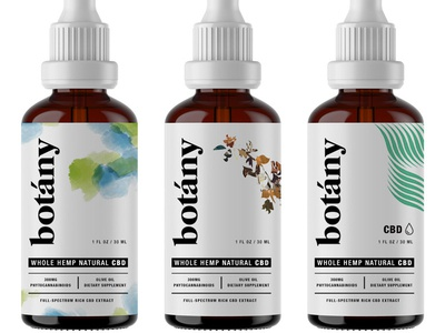 Botany pt.2 cbd hemp cbd oil wellness oil los angeles startup bottle packaging bottle label startup branding startup logo