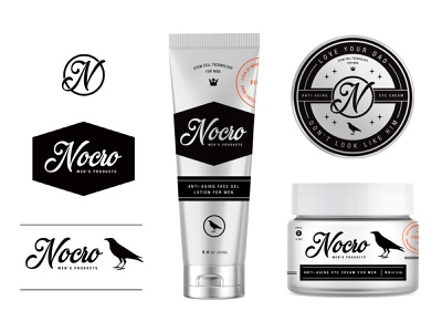 Nocro pt.2 illustration label exploration typography cosmetic anti aging skincare san francisco startup design identity badge logo branding men man anti-aging