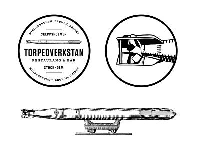 TVR ID branding logo restaurant identity sweden stockholm torpedo illustration symbol symbol icon nordic badge brand startup