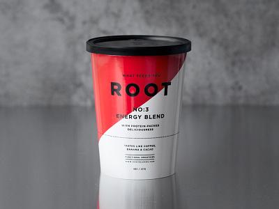 Root Energy Blend #3 drink startup smoothie fruit juice packaging paper cup branding