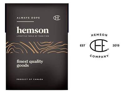 Hemson pt1 brand lifestyle outdoors toronto botanic flowers identity typography design branding logo canada startup cannabis weed cbd packaging